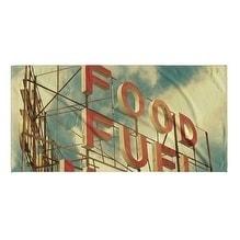 Kavka Designs Red/Blue Food Fuel Motel Beach Towel