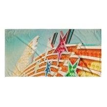 Kavka Designs Orange/Blue/Pink/Green Shooting Stars Beach Towel
