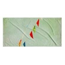 Kavka Designs Blue/Green/Red Flags Beach Towel