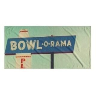 Kavka Designs Blue/Green/Red/Ivory Bowl o rama Beach Towel