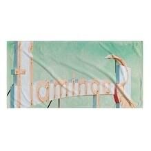 Kavka Designs Pink/Blue/Green Flamingo Beach Towel
