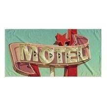 Kavka Designs Blue/Red/Green/Pink Motel Beach Towel