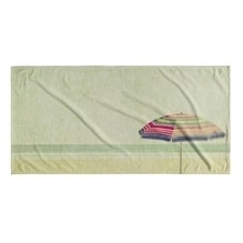 Kavka Designs Sand/Tan/Pink/Green Dream of Summer Beach Towel