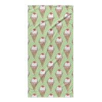 Kavka Designs Green Ice Cream Beach Towel