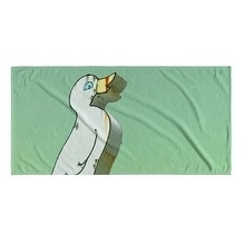 Kavka Designs Green/Yellow/White Quack Beach Towel
