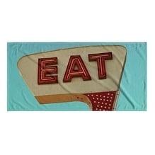 Kavka Designs Blue/Ivory/Red Eat Beach Towel