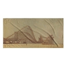Kavka Designs Tan/Brown/Grey Off Season Beach Towel
