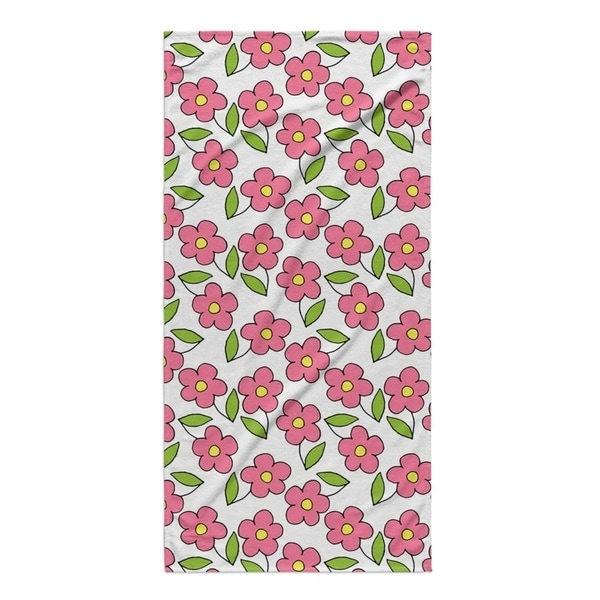 Kavka Designs Pink/Green Planting Beach Towel