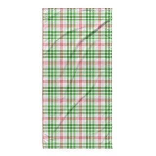 Kavka Designs Red/Green Candy Cane Plaid Beach Towel