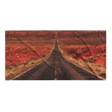 Kavka Designs Grey/Red/Blue/Gold The Long Way Home Beach Towel