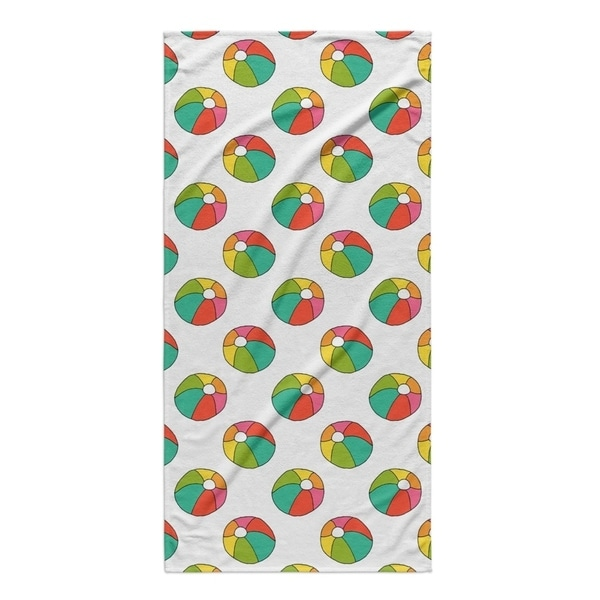 Kavka Designs Yellow/Pink/Blue/Green To The Beach Beach Towel