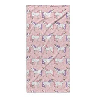 Kavka Designs Pink/Purple Unicorns Beach Towel
