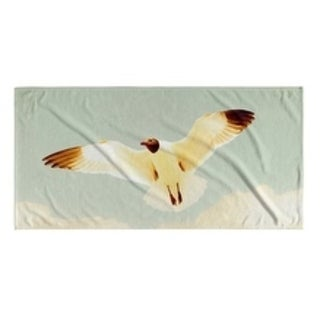 Kavka Designs Ivory/Blue/Grey Aloft Beach Towel (Option: Wildlife)