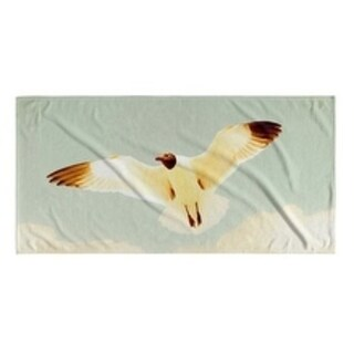 Kavka Designs Ivory/Blue/Grey Aloft Beach Towel