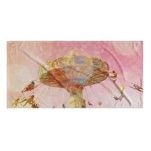 Kavka Designs Pink/Orange/Tan Summer Love Beach Towel