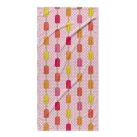 Kavka Designs Pink/Purple/Tan/Green Icepops Beach Towel