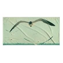 Kavka Designs Blue/Grey/White Gulls Beach Towel