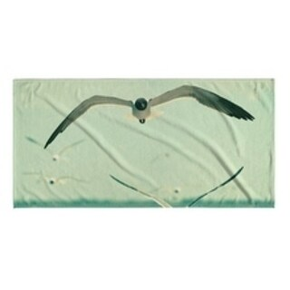Kavka Designs Blue/Grey/White Gulls Beach Towel
