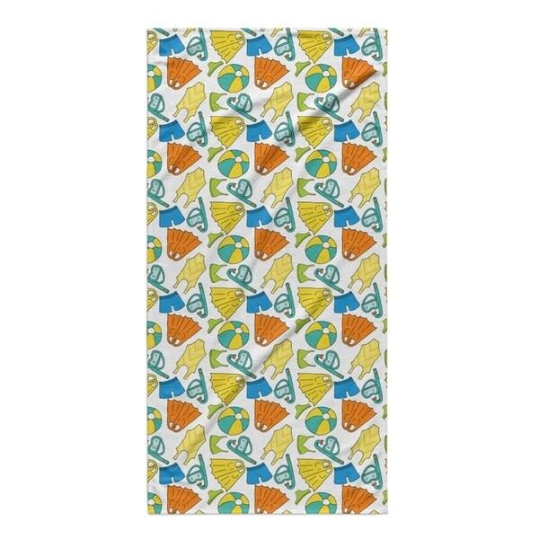 Kavka Designs Blue/Orange/Yellow Swimming Beach Towel