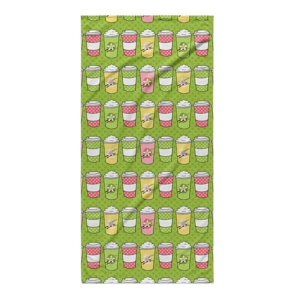 Kavka Designs Green Vb Latte Beach Towel