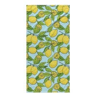 Kavka Designs Blue/Yellow Lemons Beach Towel