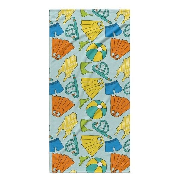 Kavka Designs Blue/Yellow Swimming Beach Towel