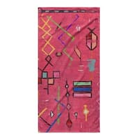 Kavka Designs Red/Pink/Blue/Green Lilly In Pink Beach Towel
