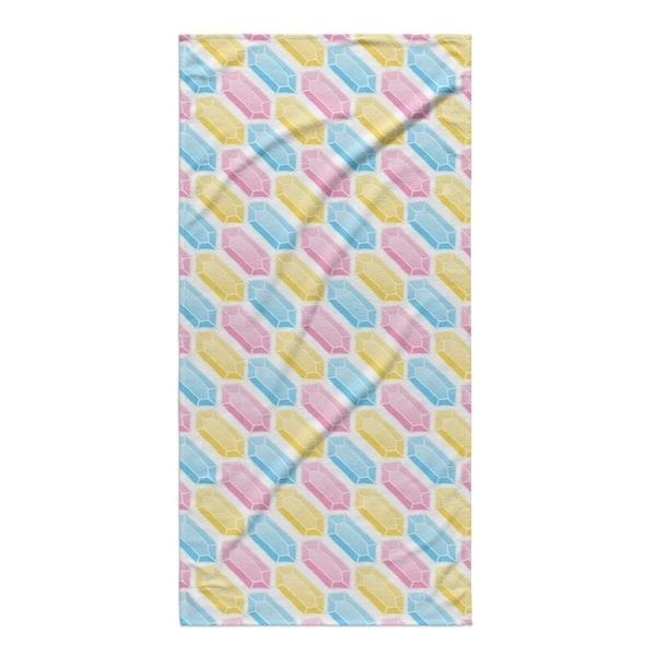 Kavka Designs Pink/Blue/Yellow Gems Beach Towel