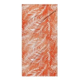 Kavka Designs Orange/White Orange Palm Beach Towel