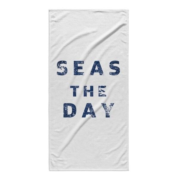 Kavka Designs Blue Seas The Day Beach Towel