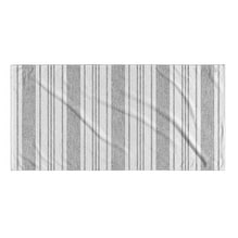 Kavka Designs Grey/White Cummaquid Beach Towel
