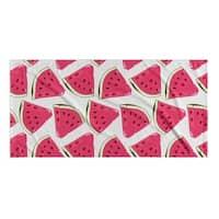 Kavka Designs Pink/Green/Blue Water Mellon Beach Towel
