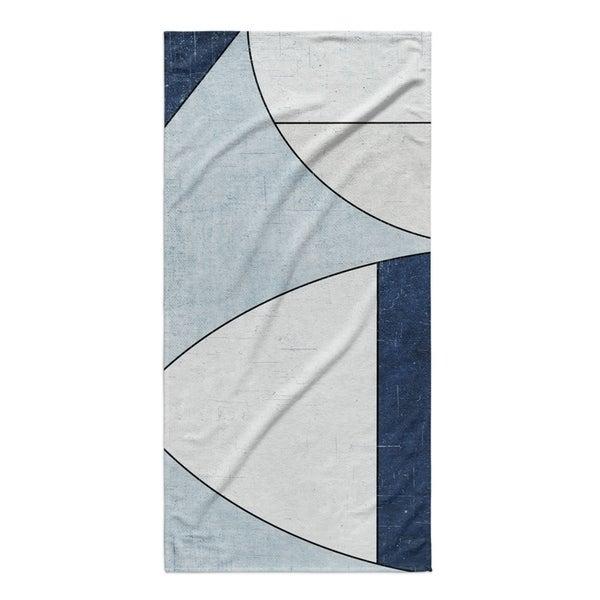 Kavka Designs Blue/Ivory Yoka Beach Towel