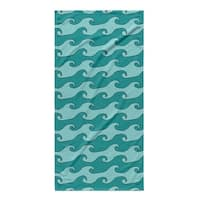 Kavka Designs Turquoise/Teal Waves Beach Towel