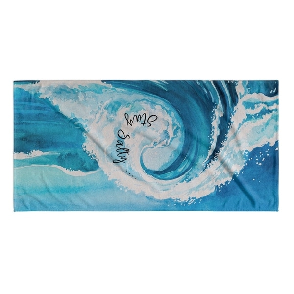 Kavka Designs Blue Stay Salty Beach Towel