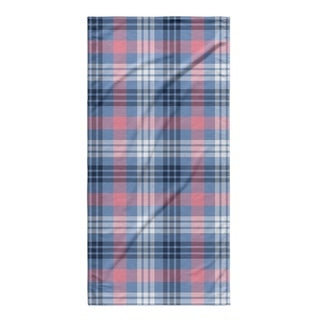 Kavka Designs Pink/Blue Feb Plaid Beach Towel