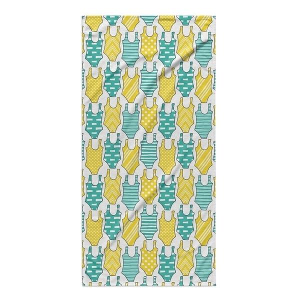 Kavka Designs Turquoise/Yellow Swimming Beach Towel