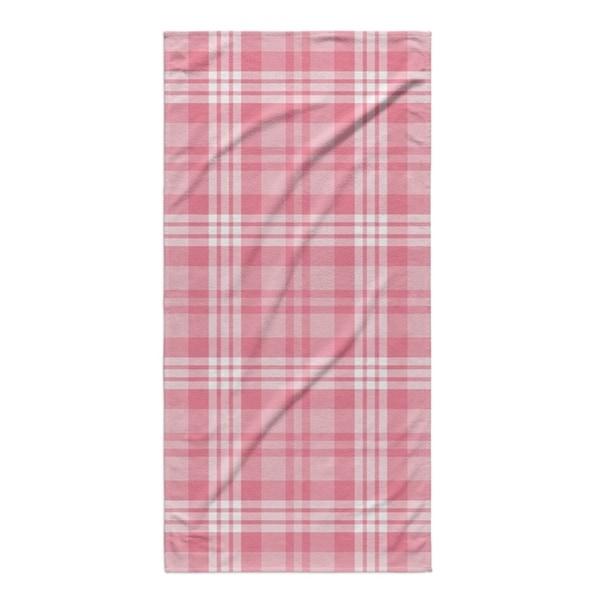 Kavka Designs Pink Be Mine Plaid Beach Towel