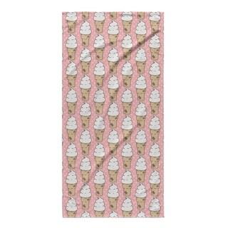 Kavka Designs Pink Ice Cream Beach Towel