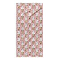 Kavka Designs Pink Ice Cream Beach Towel