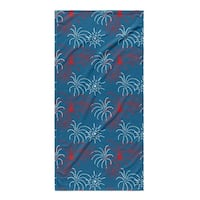 Kavka Designs Red/Blue Fireworks Beach Towel