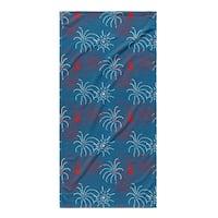 Kavka Designs Red/Blue Fireworks Beach Towel