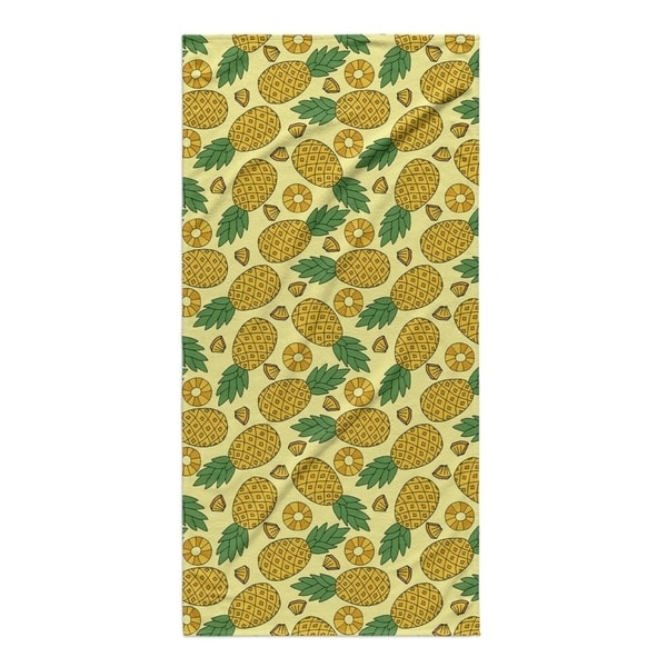 Kavka Designs Yellow Pineapple Beach Towel