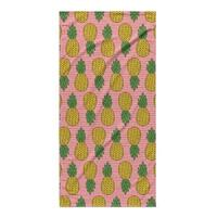 Kavka Designs Pink/Yellow Pineapple Beach Towel