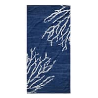 Kavka Designs Blue Sultana Blue Beach Towel