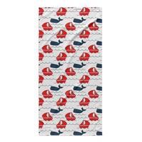 Kavka Designs Navy/Red Nautical Navy Red Beach Towel