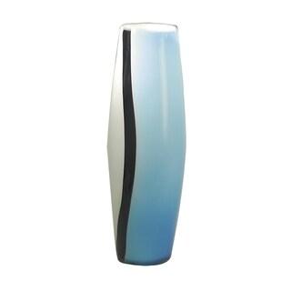 "Springdale 18""H Artic Blue Hand Blown Art Glass Vase"