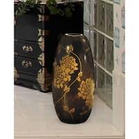 "Springdale 11.75""H Preston Oval Hand Blown Art Glass Vase"