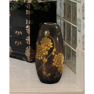 "Link to Springdale 11.75""H Preston Oval Hand Blown Art Glass Vase Similar Items in Decorative Accessories"