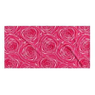 Kavka Designs Pink Bed Of Roses Beach Towel